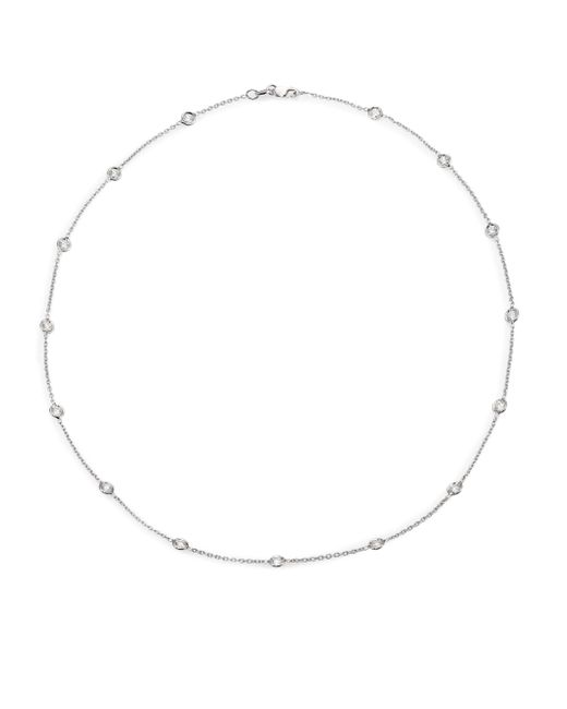 Roberto Coin | Metallic Diamond & 18k White Gold Station Necklace/16 | Lyst