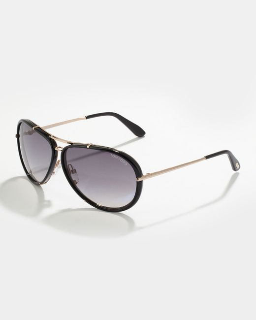tom ford cyrille men 39 s aviator sunglasses in black for men lyst. Cars Review. Best American Auto & Cars Review