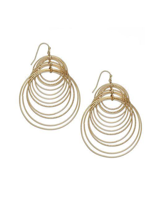 INC International Concepts | Metallic Gold-tone Multi-circle Hook Earrings | Lyst