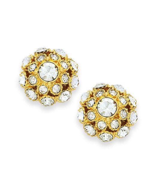 Kate Spade   Earrings, 12k Gold-plated Crystal Ball Stud Earrings   Lyst