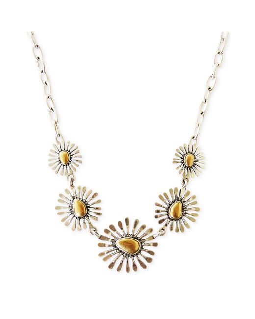 Lucky Brand | Multicolor Two Tone Floral Collar Necklace | Lyst