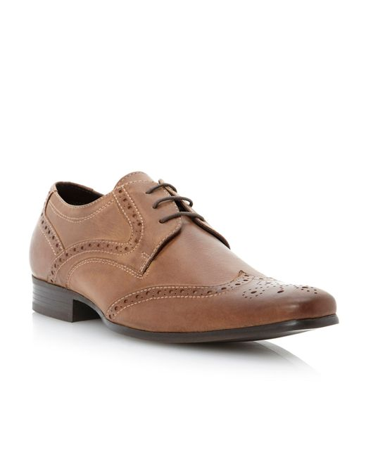Howick Biscuit Lace Up Derby Shoes