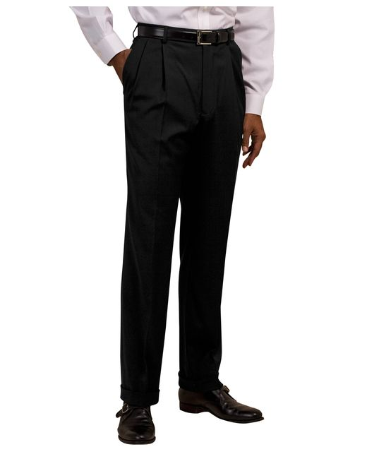 Brooks Brothers   Blue Plain-front Suiting Essential Stripe Trousers for Men   Lyst