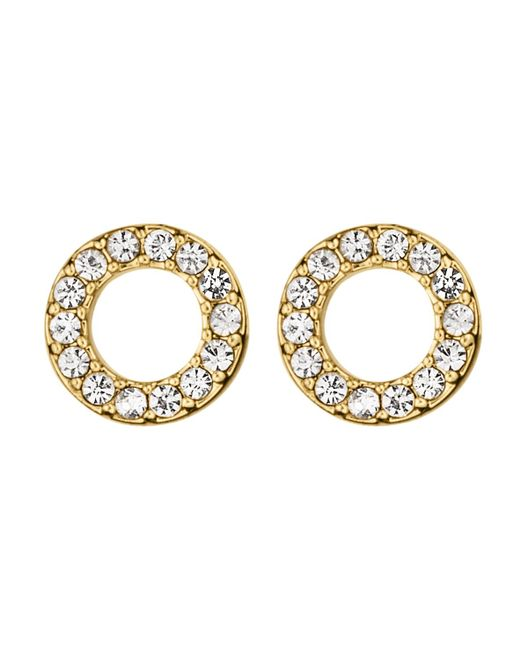 Dyrberg/Kern | Metallic Koro Shiny Gold Crystal Earring | Lyst
