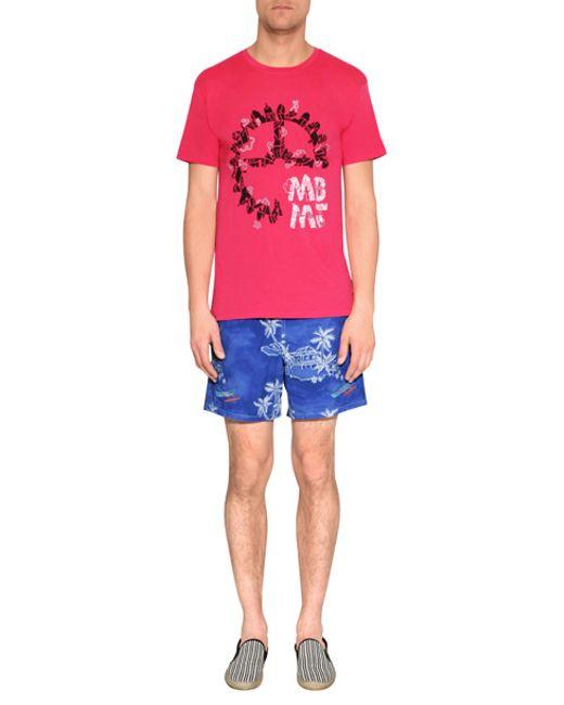 Vilebrequin | Pink Moorea Shrimp Printed Swim Shorts for Men | Lyst