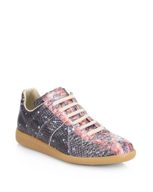 Maison Margiela | Black 'replica' Splatter Paint Suede Sneakers for Men | Lyst