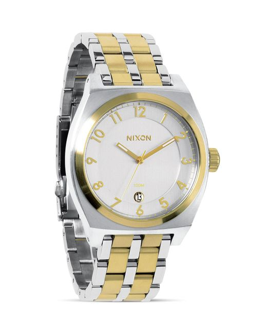 Nixon | Gold The Monopoly Two Tone Watch, 40mm for Men | Lyst