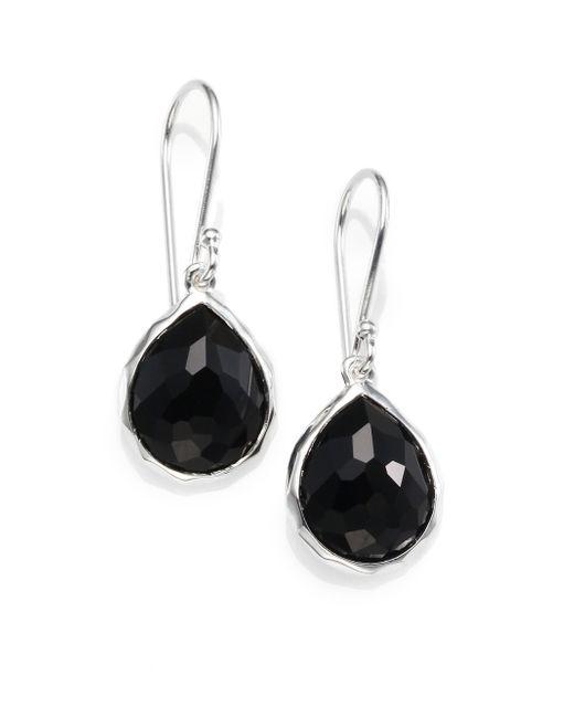 Ippolita | Metallic Black Onyx & Sterling Silver Earrings | Lyst