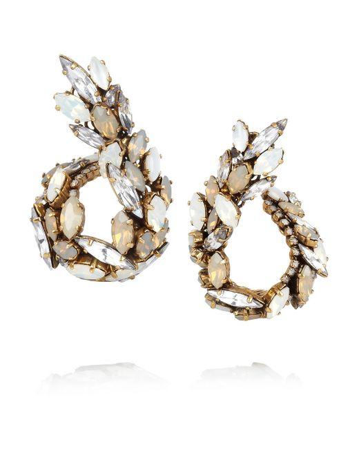 Erickson Beamon | Whiter Shade Of Pale Goldplated Swarovski Crystal Earrings | Lyst