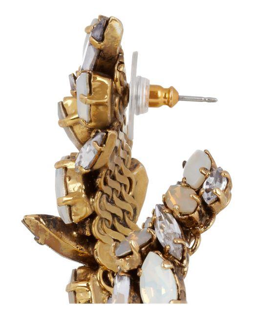 Erickson Beamon   White 'til Death Do Us Part' Swarovski Crystal Baroque Pearl Earrings   Lyst