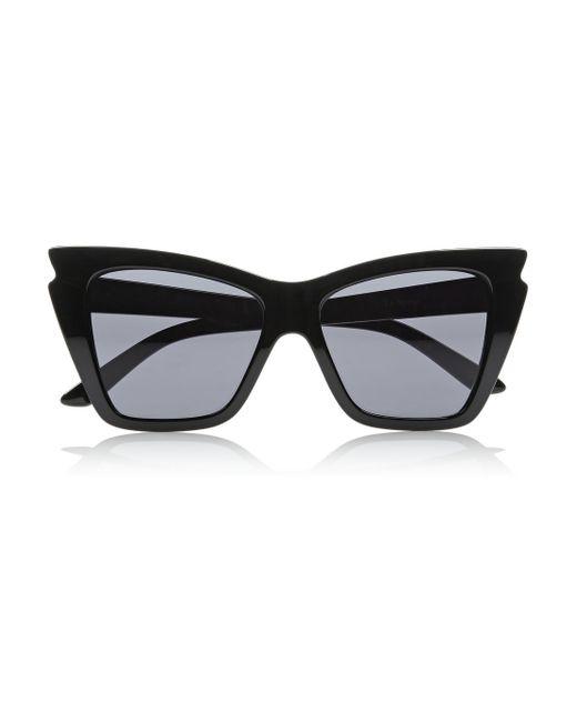 Le Specs | Black Rapture Cat-eye Acetate Sunglasses | Lyst