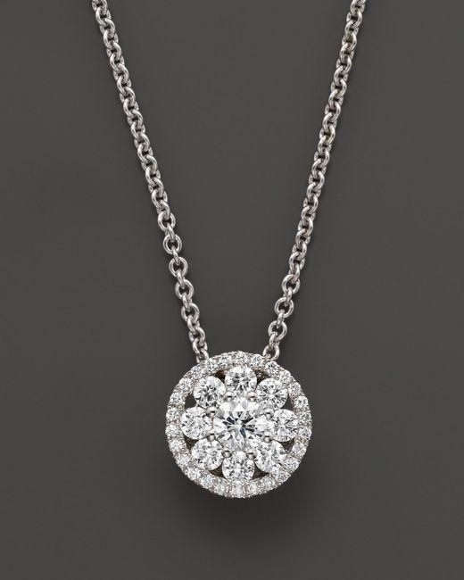 "Roberto Coin | Diamond Pendant Necklace In 18k White Gold, 16"" | Lyst"