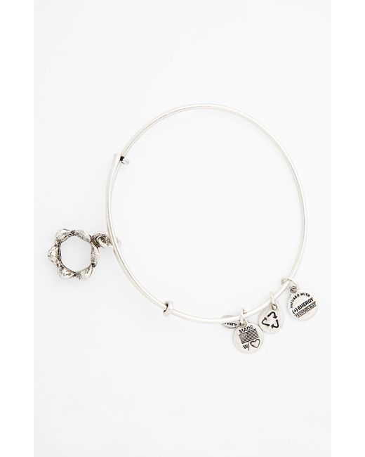 ALEX AND ANI | Metallic 'queen's Crown' Expandable Wire Bangle | Lyst