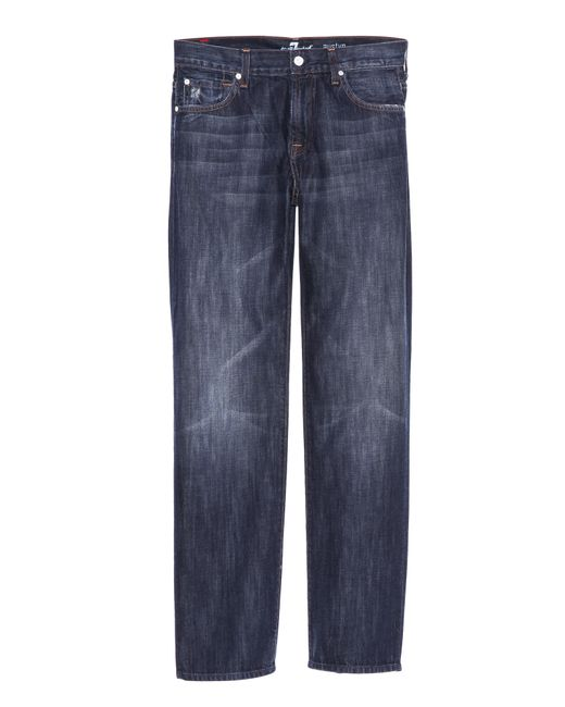 7 For All Mankind | Blue Austyn Long Straight Leg Jeans for Men | Lyst