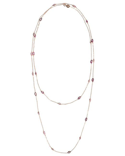 CZ by Kenneth Jay Lane   Pink Necklace   Lyst