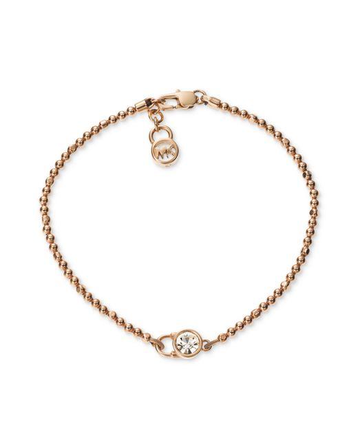 Michael Kors   Pink Pavé Slider Bracelet   Lyst