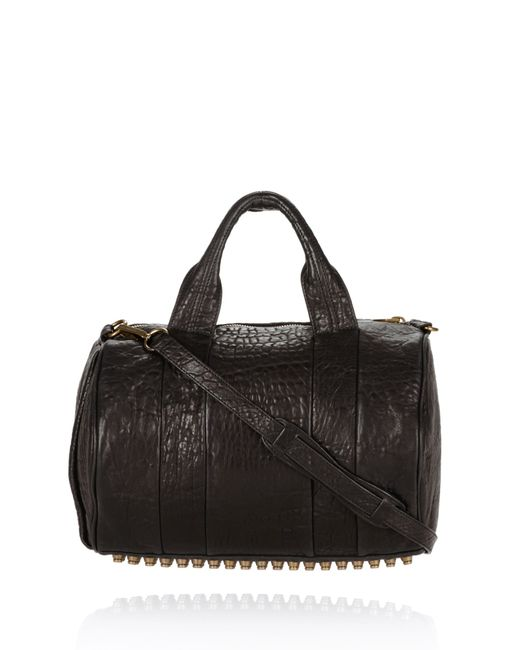 Alexander Wang | Rocco In Black Pebble With Antique Brass | Lyst