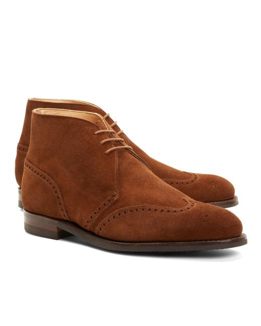 Brooks Brothers | Brown Peal & Co.® Suede Wingtip Boots for Men | Lyst