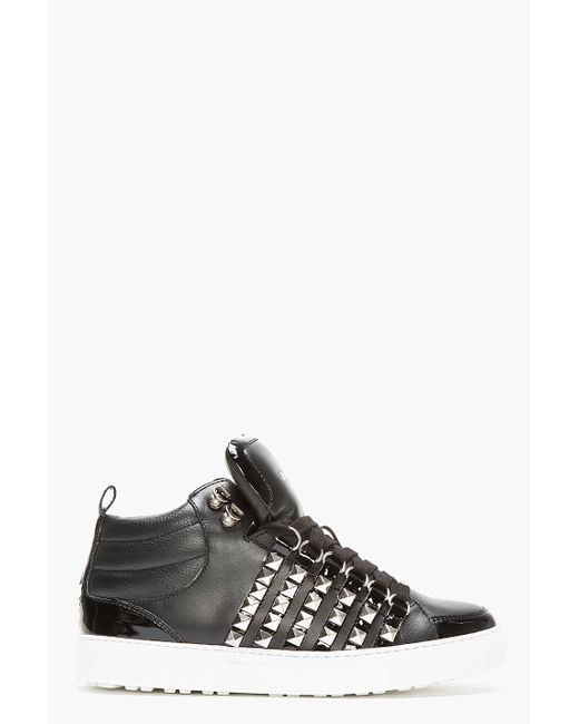 DSquared² | Black Brogue Detail Sneakers for Men | Lyst