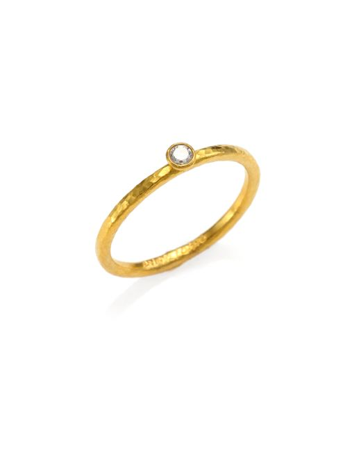 Gurhan | Metallic Delicacies Diamond & 24k Yellow Gold Skittle Stacking Ring | Lyst
