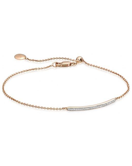 Monica Vinader | Metallic Ava 18karat Rose Goldvermeil Bracelet | Lyst