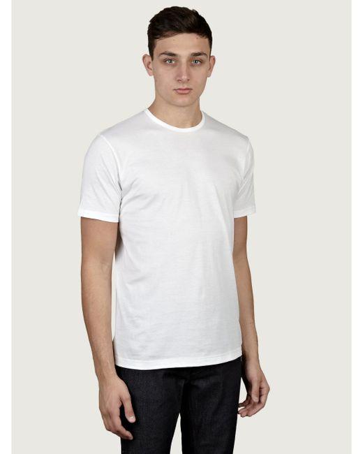 Sunspel   White Round Neck T-shirt for Men   Lyst