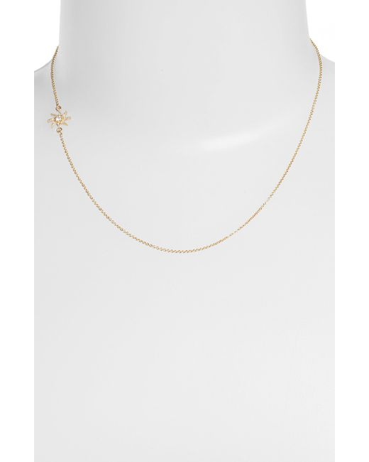 Mizuki | Metallic Wings Of Desire Diamond Sun Station Necklace | Lyst