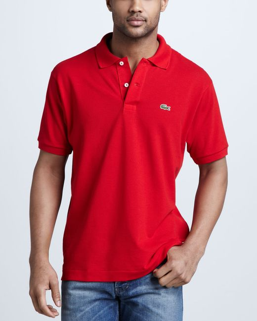 Lacoste | Red Classic Pique Polo for Men | Lyst