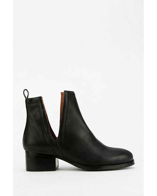 Jeffrey Campbell Oriley Cutout Ankle Boot In Black Lyst