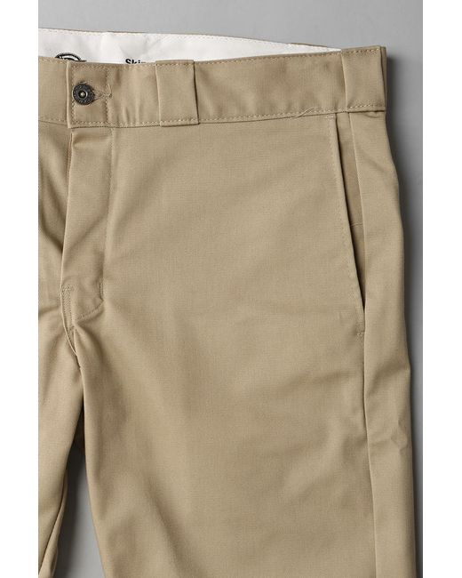 Dickies Skinny Straight Work Pant In Khaki For Men Lyst