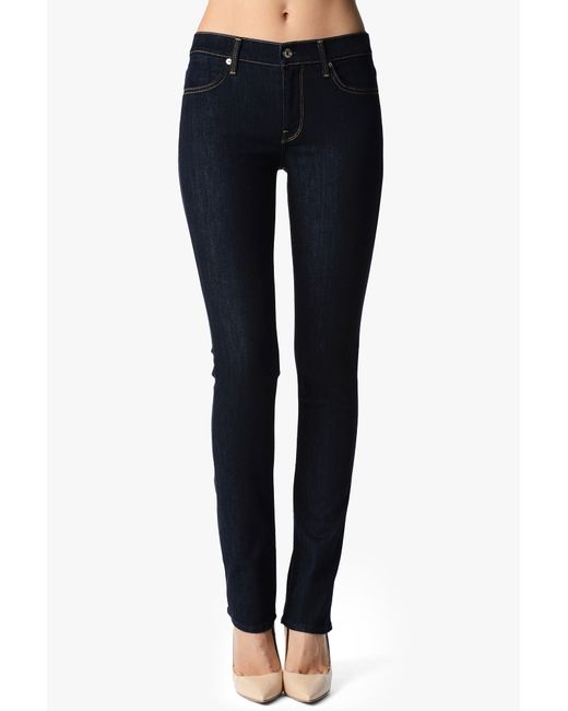 7 For All Mankind | Blue Roxanne Skinny Rinse Jeans | Lyst