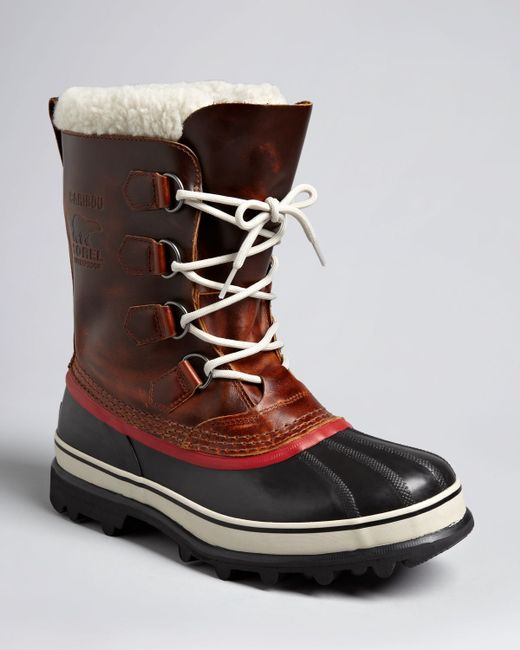 sorel caribou wl boots in brown for lyst