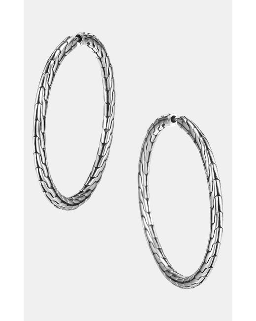 John Hardy   Metallic 'classic Chain' Medium Hoop Earrings   Lyst