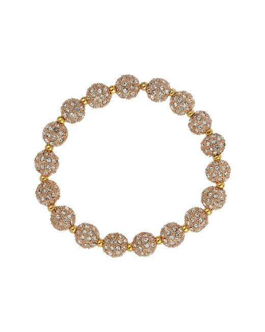 Mikey | Metallic Cubic Crystal Ring Ball Elastic Bracelet | Lyst