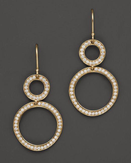 Ippolita   Metallic 18k Gold Stardust Open Snowman Earrings With Diamonds   Lyst