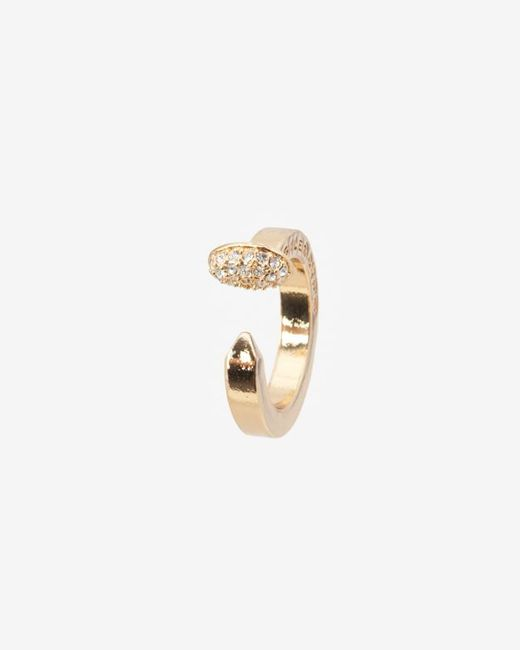 Giles & Brother | Metallic Crystalized Nail Ring | Lyst