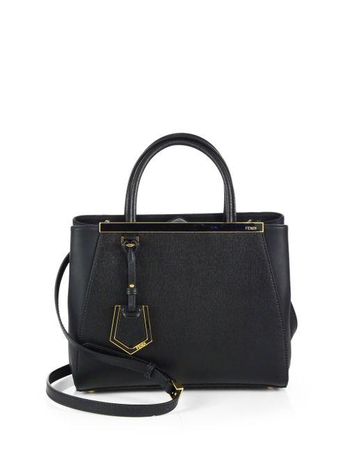 Fendi | Black 2jours Petite Shopper | Lyst