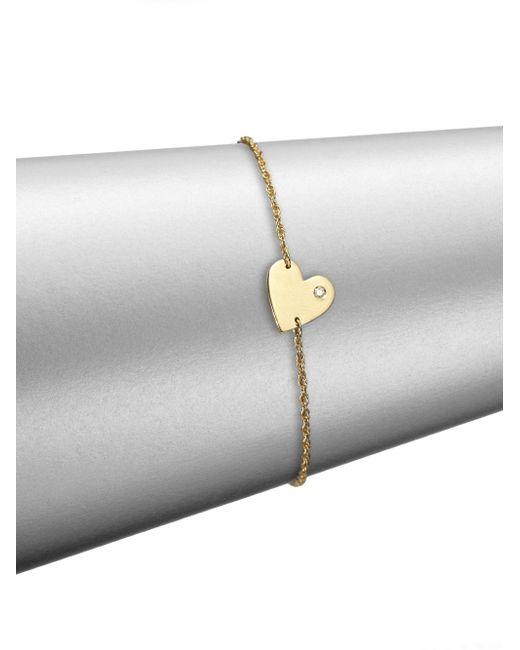 Jennifer Zeuner | Yellow Heart Charm Bracelet | Lyst