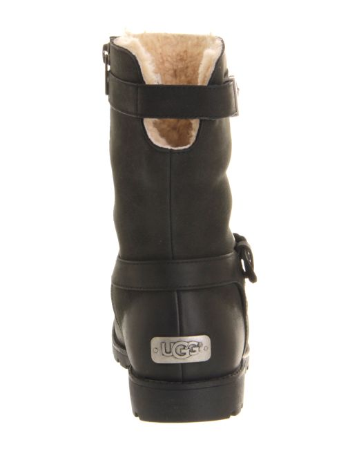 ugg grandle biker boots in black lyst
