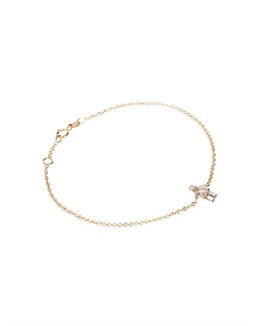 Matchstick   Metallic Diamond & Yellow-Gold Girl Bracelet   Lyst