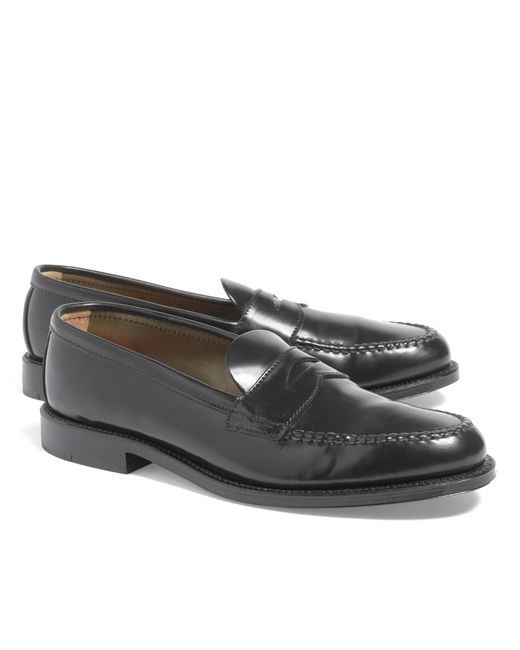 Brooks Brothers | Black Cordovan Unlined Penny Loafers for Men | Lyst