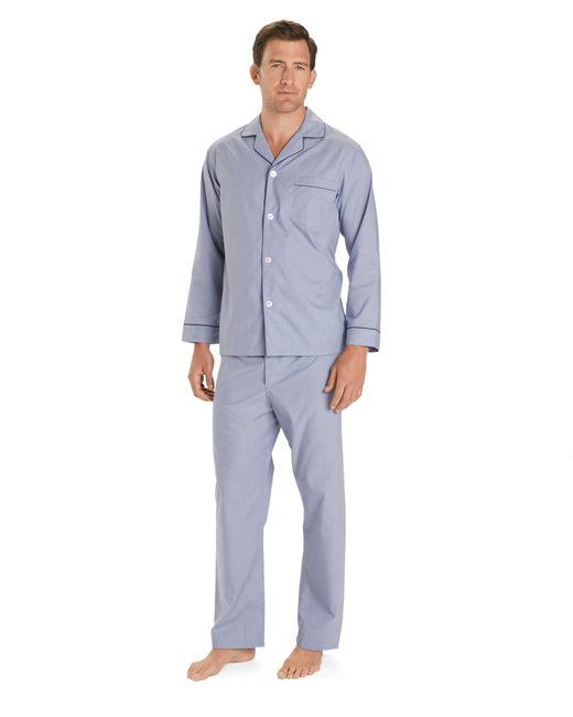 brooks brothers wrinkle resistant broadcloth pajamas in
