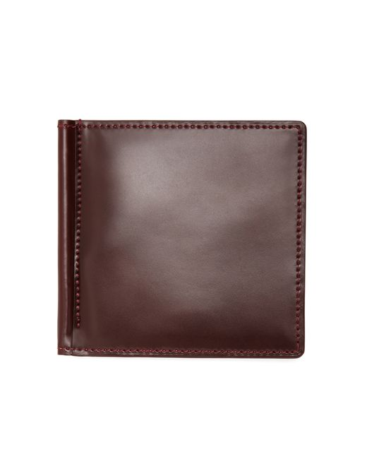 Brooks Brothers   Brown Cordovan Wallet With Money Clip for Men   Lyst