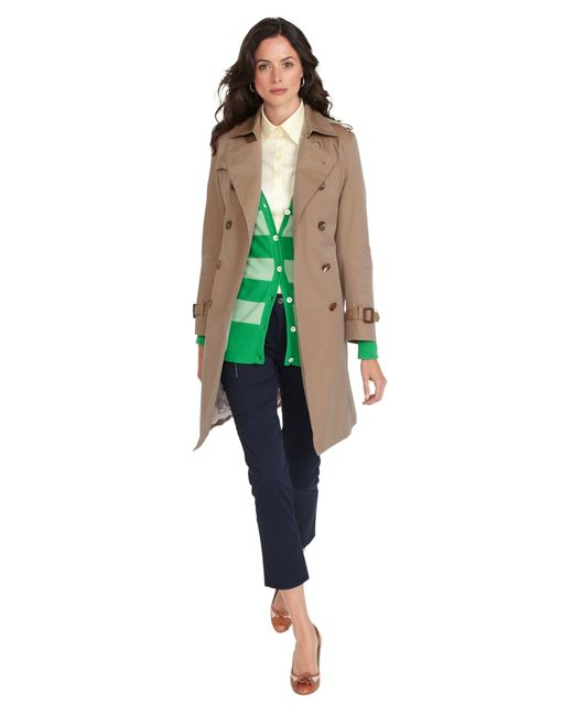 Brooks Brothers | Natural Cotton Trench Coat | Lyst