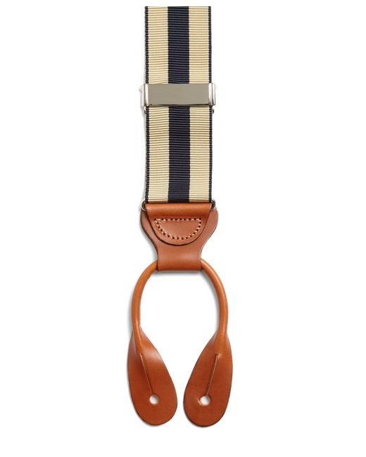 Brooks Brothers | Natural Striped Suspenders for Men | Lyst