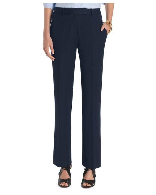 Brooks Brothers   Blue Petite Plain-front Caroline Fit Fluid Stretch Dress Trousers   Lyst