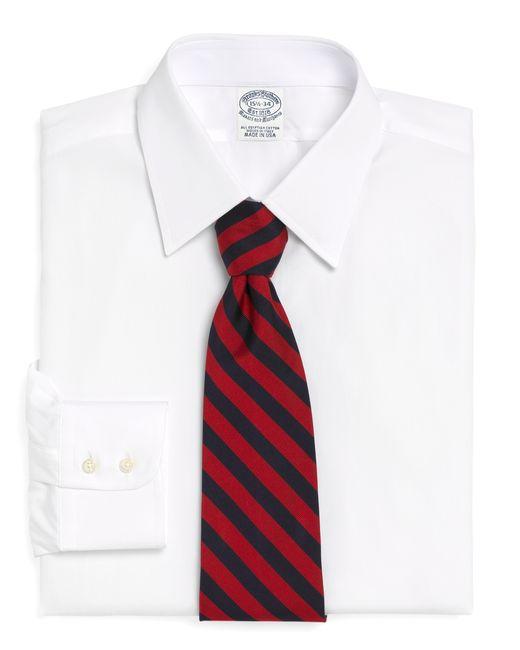Brooks brothers regent fit tennis collar dress shirt in for Brooks brothers dress shirt fit