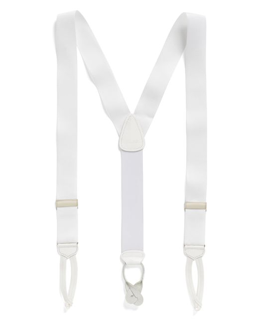 Brooks Brothers | White Formal Suspenders for Men | Lyst