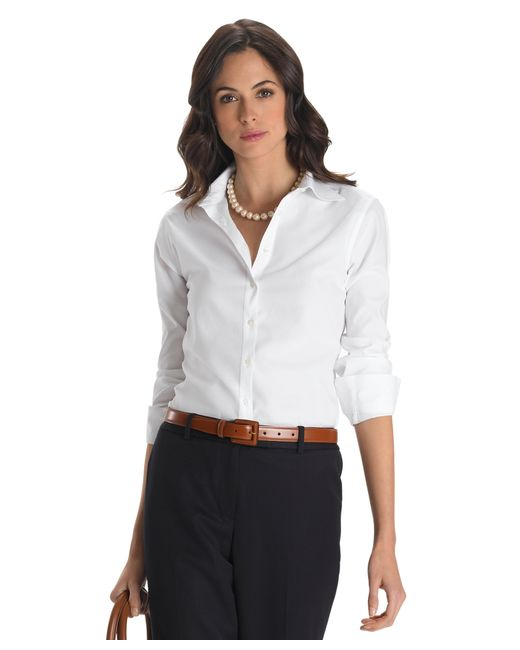 Brooks Brothers | White Petite Non-iron Classic-fit Dress Shirt | Lyst