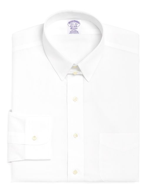 Brooks Brothers | White Non-iron Madison Fit Tab Collar Dress Shirt for Men | Lyst